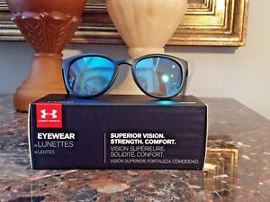 Under Armour Roll Out - Satin Black Blue Multi Sunglasses - $125