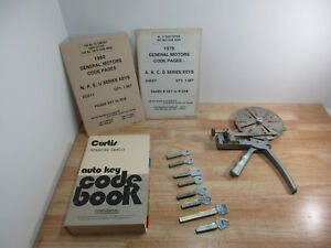 Curtis No 14 Locksmith Key cutter Tool 1960s Ford 1970s GM & Code Book