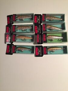 Lot of 8 New Rapala Original Floating F-7 Fishing Lures  RT  RAINBOW TROUT