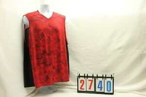 Under Armor Mens Size 2XL Red Loose Tank Top Shirt Heat Gear Athletic Wear