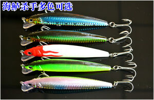 5PCS Fishing Lures Large Hard Minnow Crankbaits for Bass Trout Walleye Redfish