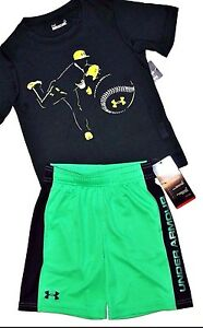 NWT  ~~BOY'S UNDER ARMOUR SHORTS & TOP...SIZE 4~~DRI-FIT STAYS COOL & DRY~~