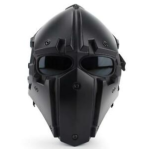 Full Face Protective Tactical Airsoft Paintball Breathable Helmet Guide Rail Fan