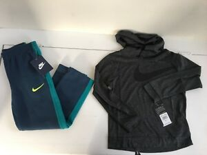 Nike Boys gray hooded dry fit shirt And SweatPants Outfit Size 5 Nwt