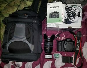 Canon EOS 7D 18.0MP Digital SLR Camera - Kit w EF-S IS 28-135mm Lens + More