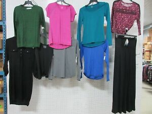 9 WOMEN LADIES SMALL CLOTHES WORKOUT GYM EVERLAST TOP SHIRTS PANTS SWEATER LOT