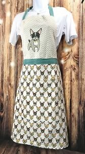 Envogue KITCHEN APRON with French Bulldogs FRENCHIE Women#x27;s Kitchen with Pockets