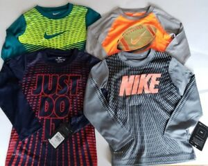 NWT Nike Boys Long Sleeve Dri-fit Shirt Size 4       Lot Of 7
