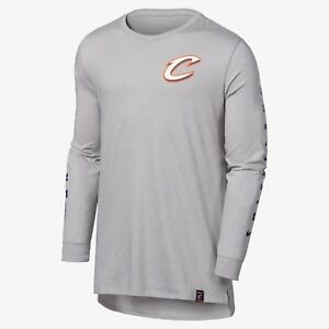 Cleveland Cavaliers City Edition Nike Dry Fit Tee 939015100 Mens Long Sleeve