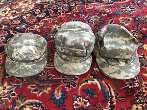 Set Of Thee US Army Fatigue Hats / Patrol Caps