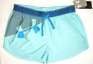NWT ~GIRL'S UNDER ARMOUR SHORTS YOUTH X-LARGE 18-20 LOOSE FITSTAYS COOLDRY~