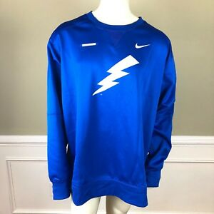 Nike Mens Fleece Lined Shirt Tampa Lightning Therma Dri Fit Blue NEW Size 4XL