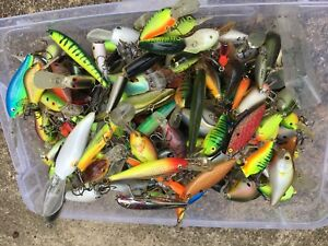 Box Of Assorted Crankbaits And Other Bass Fishing Lures