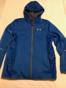 Boys Under Armour Swacket with Hoodie Blue EUC Size XL