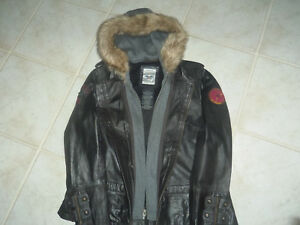 Harley-Davidson  Women's Leather 3 in 1 Jacket wHoodie  97140-13 VW