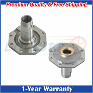 Pair:2 Front Axle Spindle for Toyota Land Cruiser 78 79 80 105 Series 4.2L 4.5L