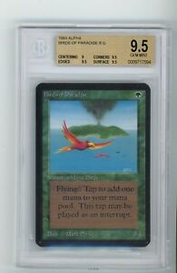 Alpha Birds of Paradise BGS 9.5 GEM MINT MTG Magic Gathering LOW POP Ultra Rare