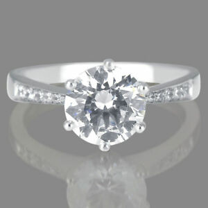 0.70 CT FSI2 Ladies Enhanced Round Diamond Engagement Ring 950 Platinum