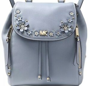 MICHAEL KORS  EVIE Blue Backpack PURSE CONVERTIBLE BACKPACK HANDBAG $368