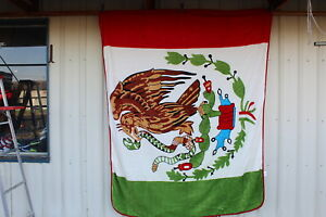 MEXICO MEXICAN FLAG QUEEN SIZE BLANKET BEDSPREAD