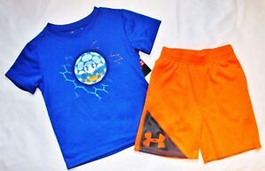 ~BOY'S UNDER ARMOUR SHORTS & TOP...3 TODDLER..DRI-FITSTAYS COOL...NEW wt TAGS!
