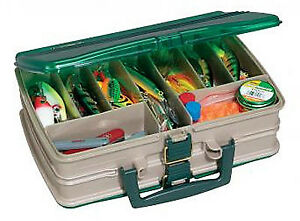 Tackle Box Satchel-Style 20-Compartment SandstoneGreen