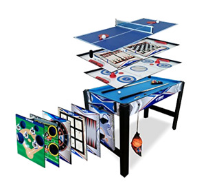 13-in-1 Combo Game Table for Basketball Table Tennis Billiards Mancave Combo