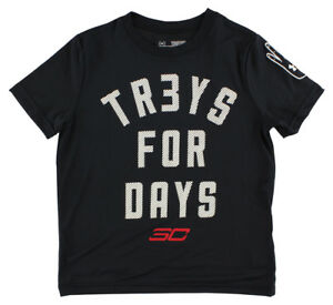 Under Armour Boys SC30 Tr3ys For Days T Shirt Black XS