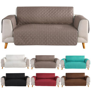 123 Seat Quilted Microfiber Sofa Couch Cover Pad Chair Throw Pet Dog Kids Mat