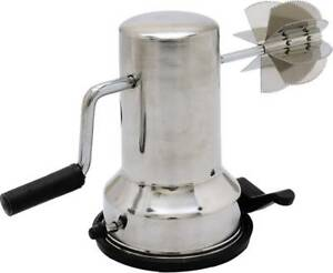 Stainless Steel Vaccum Base Coconut Scraper Grater Shredder Free Ship From India