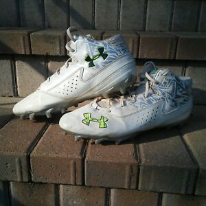 Mens Under Armour Football Cleats Size 11 White $3.50