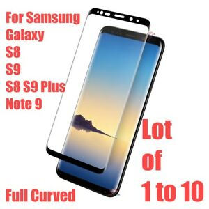 Samsung Galaxy S9 S8 Plus Note 9 5D Full Cover Tempered Glass Screen Protector
