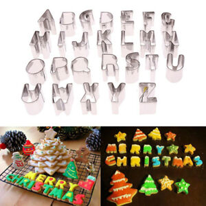 47926x Stainless Steel Number Alphabet Mold Biscuit Tools Cookie Cake Mold W