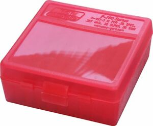 MTM PLASTIC AMMO BOXES (8) RED 100 Round 38  357 - FREE SHIPPING
