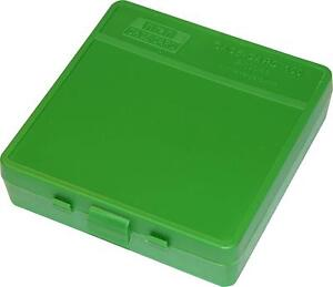 MTM PLASTIC AMMO BOXES (12) GREEN 100 Round 40 S&W  45 ACP - FREE SHIPPING