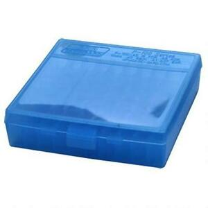 MTM PLASTIC AMMO BOXES (12) BLUE 100 Round 40 S&W  45 ACP - FREE SHIPPING