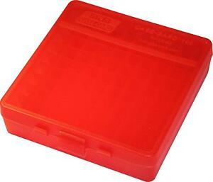 MTM PLASTIC AMMO BOXES (12) RED 100 Round 40 S&W  45 ACP - FREE SHIPPING