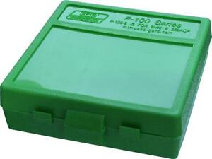 MTM PLASTIC AMMO BOXES (10) GREEN 100 Round 9mm  380 - FREE SHIPPING