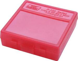 MTM PLASTIC AMMO BOXES (10) RED 100 Round 9mm  380 - FREE SHIPPING