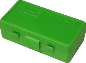MTM PLASTIC AMMO BOXES (10) GREEN 50 Round 9mm  380 - FREE SHIPPING