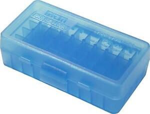 MTM PLASTIC AMMO BOXES (10) BLUE 50 Round 9mm  380 - FREE SHIPPING
