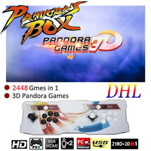 NEW 3D Pandora Game Box 2448 Classic Games Console Retro TV HDMI Double Stick LB