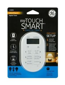 General Electric 26892 My Touch smart Indoor Plug-In Digital Timer, White