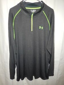 Men's UNDER ARMOUR Loose Quarter Zip Pullover Top Heat Gear Tag Size 3XL