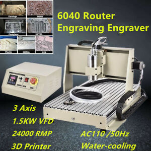 1.5KW 6040 Router Machine Engraving Engraver Machine 3Axis 3D Cutter ER11 DHL