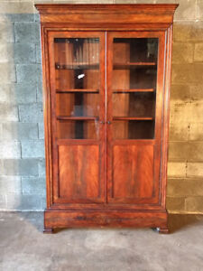 Antique and Elegant Charles X Bookcase in Mahogany - Restored (in progress)