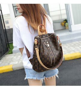 Women Vintage Fashion PU Leather Handbags Backpacks Tote Female Shoulder bag