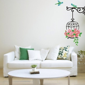 Birdcage Vinyl Home Room Decor Art Wall Decal Sticker Bedroom Removable Mural