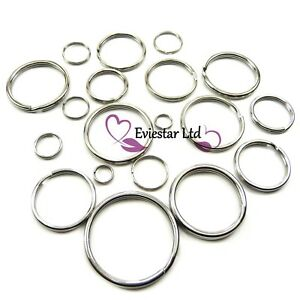 Split Ring Key Rings Double Loops 304 Stainless Steel Keychain Rings NAP
