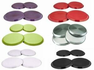 4PC S STEEL COLOURED HOB COVER PROTECTOR METAL RING ELECTRIC COOKER GBP 7.49
